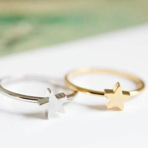star mid knuckle ring/star ring/knuckle ring/gold knuckle ring,R019N