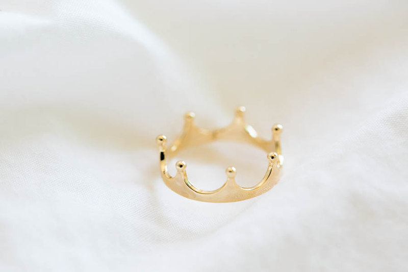 Gold Crown Ringstackable Ringscute Ringsstackable Rings Women S Ringscool Ringsfunky Rings