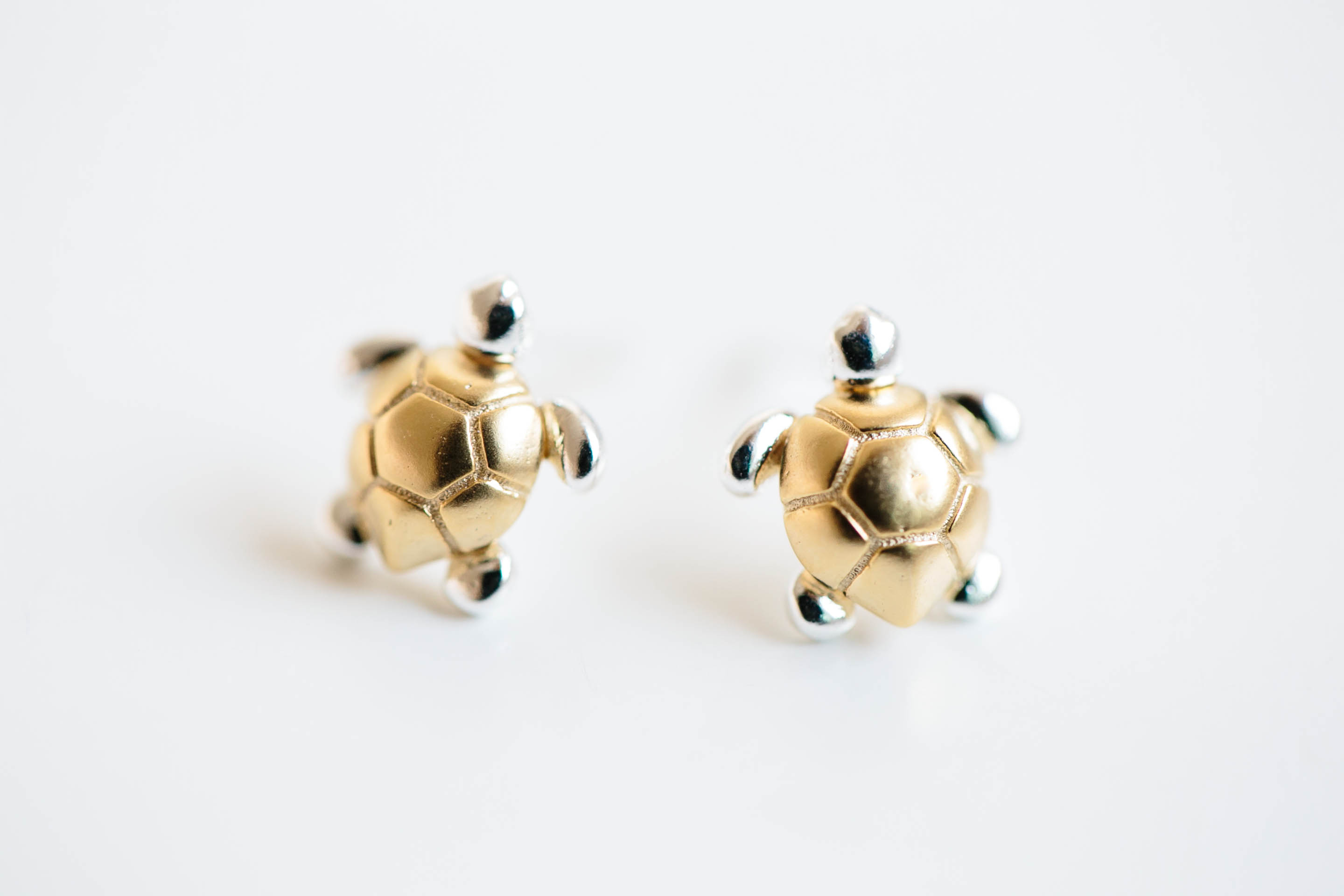 Turtle cartilage earrings